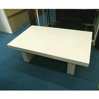 札幌【安定感のある真っ白いセンターテーブル】幅104cm コーヒーテーブル ティーテーブル ローテーブル 座卓 本郷通店の画像