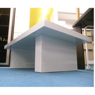 札幌【安定感のある真っ白いセンターテーブル】幅104cm コーヒーテーブル ティーテーブル ローテーブル 座卓 本郷通店 - 札幌市