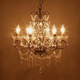 6灯 シャンデリア LED対応
