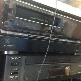 高級機ソニーベータマックスデッキEDV9000とレーザ昭和レトロ...