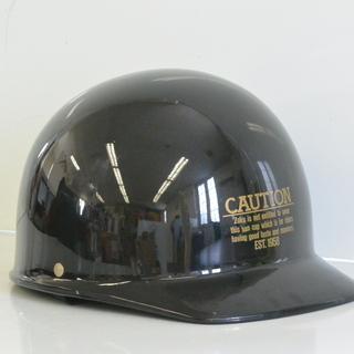 ハーフヘルメット ベースボールタイプ フリーサイズ W-120 ブラック 125㏄以下 原付バイク キャップの画像