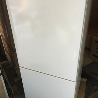 2ドア冷蔵庫 2018年製 霜取不要 ツインバード HR-E911W