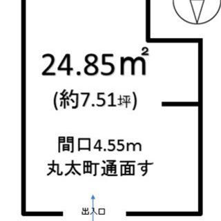 ◆丸太町通り北側面すキレイな新築1階店舗◆物販・軽飲食可/仲介手...