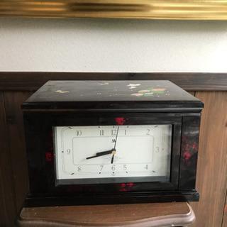 【至急28日18時渡し】格調高い 漆の時計 小物入れ付