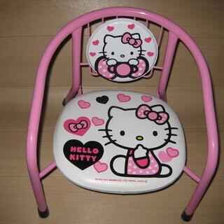 ベビー椅子、キティ、ピンク