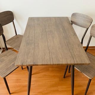 【引き取り専門】4人掛けダイニングテーブルセット