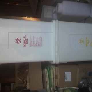 新品未使用品!本物☆バイオハザードマーク 医療産業廃棄物ダストボックス