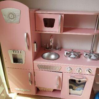 キッドクラフト おままごとキッチン ピンク