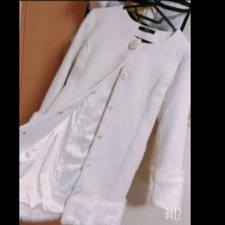 デュラス★綺麗め ホワイトコート パール