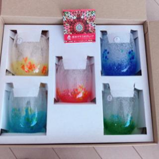 琉球グラス 泡花見 5コセット