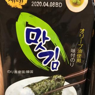 韓国海苔 オリーブオイル使用 六個