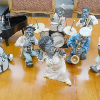 アンティーク ジャズ バンド 置物 人形 8体セット JA…