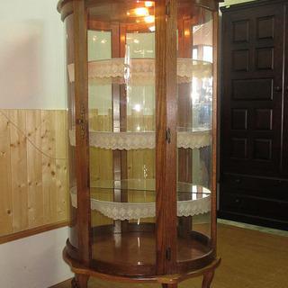 rr0774  コンソールガラスキャビネット 飾り棚 ライト付き...