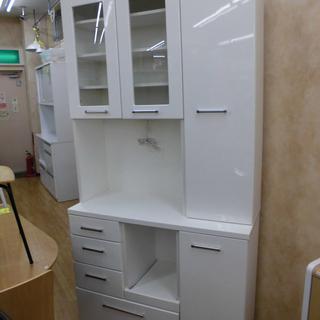大容量!レンジボード  キッチンボード 食器棚 白エナメル 幅1...