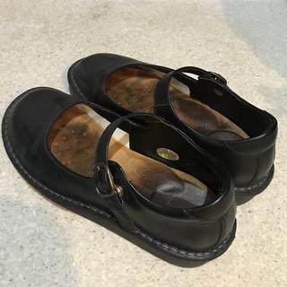 【差し上げます】レディース黒革靴【駒込駅】