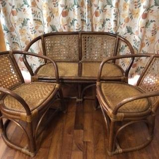 籐家具3点セット