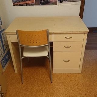 机と椅子 差し上げます