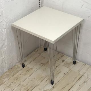 デンマーク製サイドテーブル ホワイト #家具