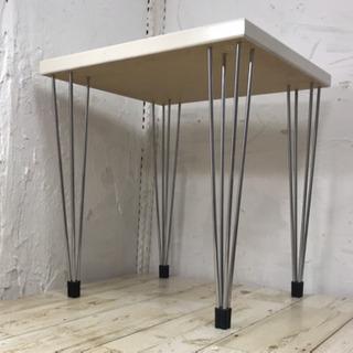 デンマーク製サイドテーブル ホワイト #家具 − 京都府
