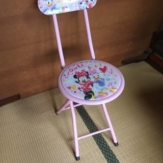 目立つ汚れなし ミニー ミッキー 折りたたみ椅子