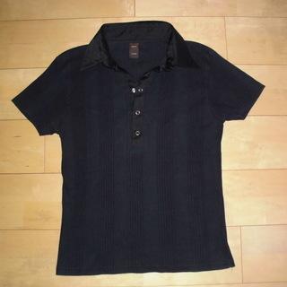 agate 半袖ポロシャツ 黒