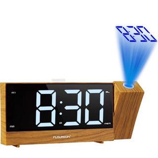 新品未使用・:*+.置き時計  投影時計 目覚まし時計