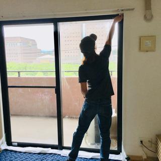 窓ガラスフィルム施工❗️窓にフィルムを貼るだけでエアコン電気代削減❗️