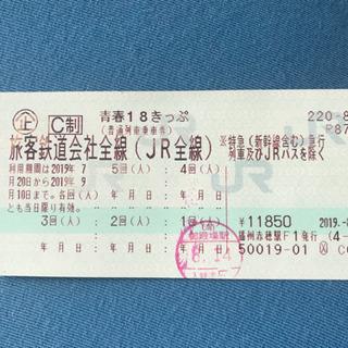 青春18切符 岡山駅周辺、備前市内で取引可!(4回残り)