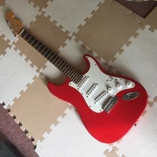 【美品】真っ赤なエレキ・ギター(Epiphone・エピフォン製純...