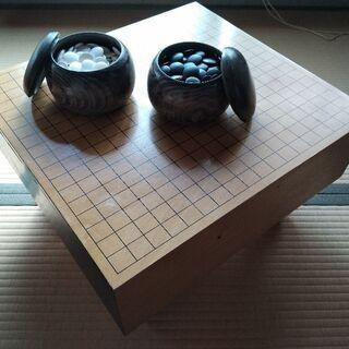 脚付き囲碁盤碁石セットふた付き 値下げ交渉OK