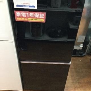 1年保証 ガラストップドア シャープ製2ドア冷蔵庫