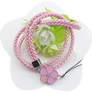 【送料無料】花柄ネックレスストラップ