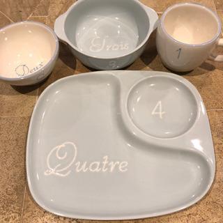 値引き 子供用 陶器 食器4点セット