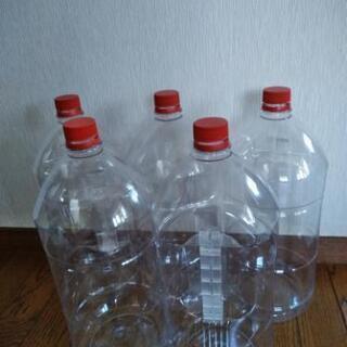 大きな5L空ペットボトル5本