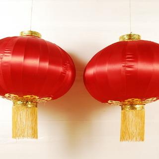 0395 シルク製 中国 シルクランタン 提灯 22インチ 57...