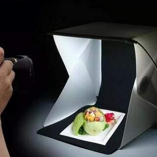 [[[在庫処分]]]■20LED照明付 撮影ボックス■折り畳み式...