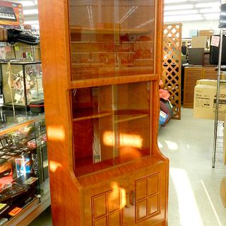 食器棚 リビングボード ガラス戸 書棚 茶箪笥 札幌市北区