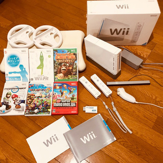 Wii + Wiiボード + Wiiハンドル + ソフト6本