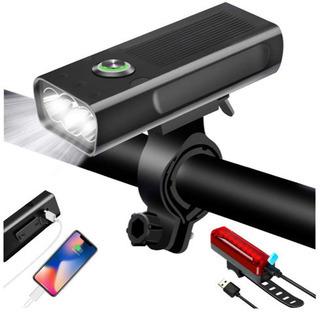 自転車ライト USB充電式 LEDヘッドライト 大容量5200mah