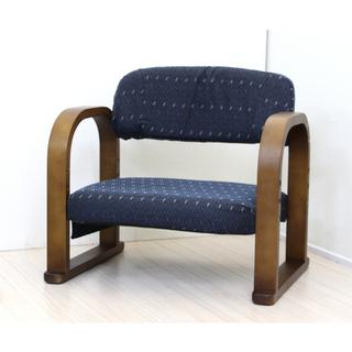 高座椅子 1人掛 軽量 オットマン ブルー 【新品】