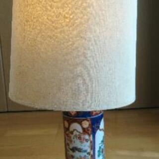レトロ 伊万里焼 ランプ ライト  間接照明