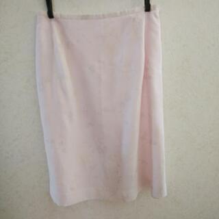 透かし・銀ラメ ピンクスカート
