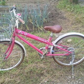 SHIMANO 女の子用自転車 MAHAL 22インチ 6段変速...