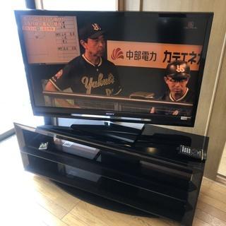 即戦力 液晶テレビ 46インチ HDMI ソニー テレビ台付 S...