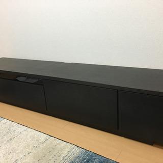 国産テレビボード ダークブラウン50v対応 幅200cm