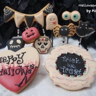 ハロウィン★アイシングクッキーレッスン の画像