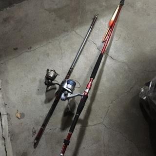 海釣り 竿リールセット 2本