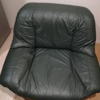 1人掛けソファー、モスグリーン、回転可能