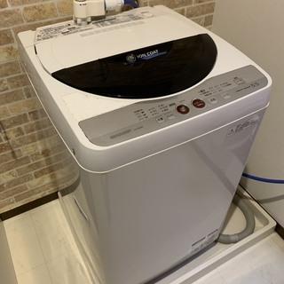 シャープ 洗濯機 5.5kg 一層式(穴なし槽)【ES-GE55K】