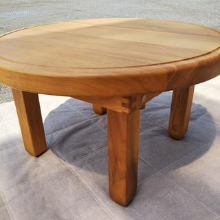 [天然木小さな丸テーブル]⁑リサイクルショップヘルプ
